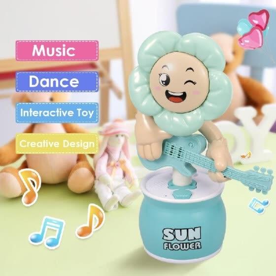 Sun Interactivo Flower Bailar Toy Cantar Girasol Juguete Musical y6vbY7gf
