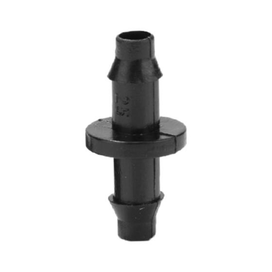 """100PCs 1//4/"""" Barbed Connector Double Way For 4//7mm Garden Drip Irrigation Hose"""