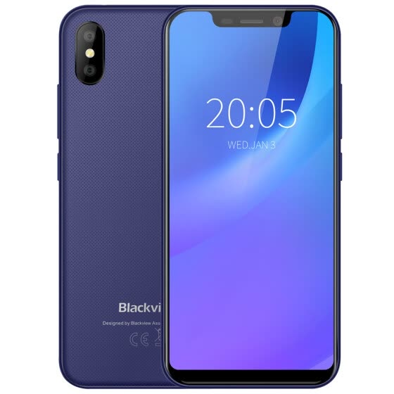 Blackview A30 3G Phablet 5.5 inch Android 8.1 MTK6580A Quad Core 1.3GHz 2GB RAM 16GB ROM 8.0MP + 0.3MP Rear Camera Face ID 2500mAh