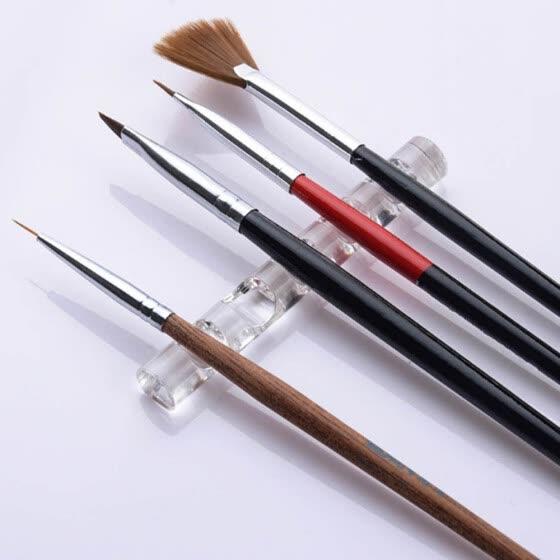 (Toponeto) Прозрачная подставка для ногтей, акриловая подставка для инструментов, 5 шт.