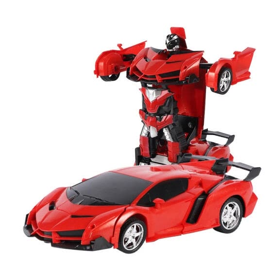 2 In 1 RC Deformation Robots Models Car Remote Control Children Kid Toy Kit