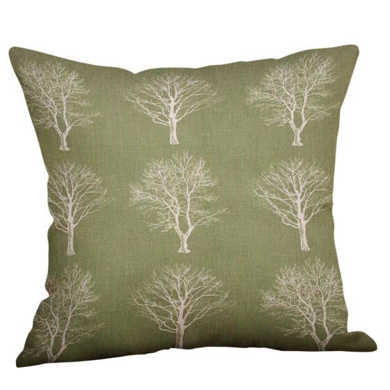 〖Follure〗Green Lime Natural Cream Cotton Linen Pillow Case Sofa Cushion Cover Home Decor