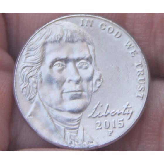 21.5mm Jefferson nickel 5 Cents Coin 2006-Present Nickel (United States Of America) Used Condition