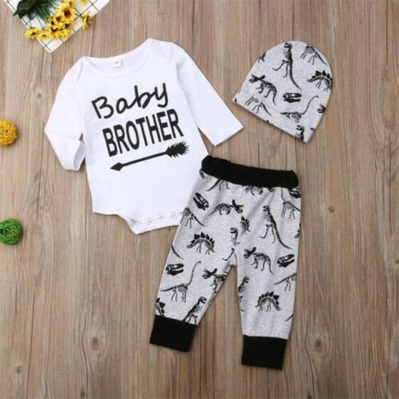 Fashion Casual Newborn Toddler Kids Baby Boys Clothes Letter Jumpsuit Romper New