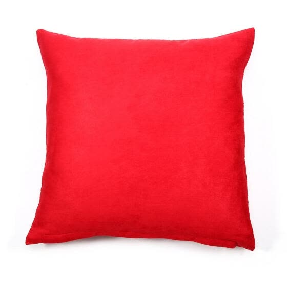 Solid Color Cotton Canvas Cushion Cover Home Decor Throw Pillow Case Lounge (Red), Pillow Cover, Throw Pillow Cover