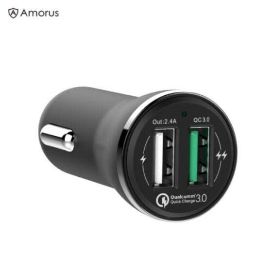 Fast Car Charger Adapter 30W 5.4A Dual USB QC 3.0 for iPhone 8 X Samsung huawei