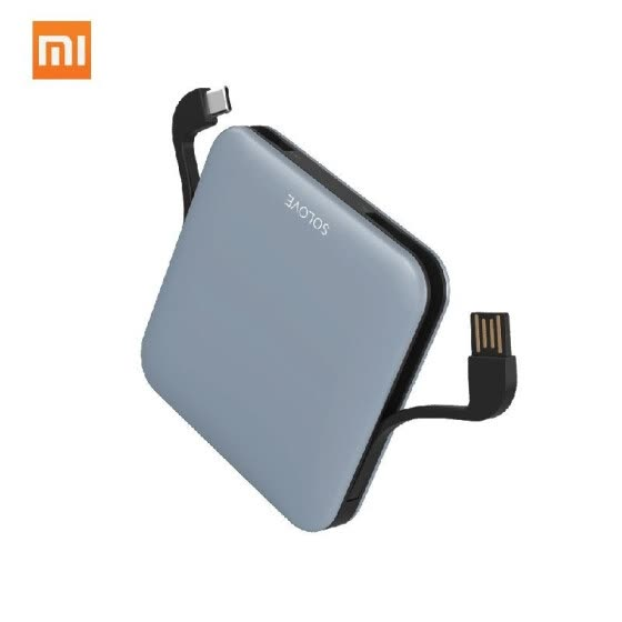 Xiaomi SOLOVE Power Bank with Data Cable 10000mAh Powerbank LED Display Portable Fast Charger For Xiaomi Huawei iPhone