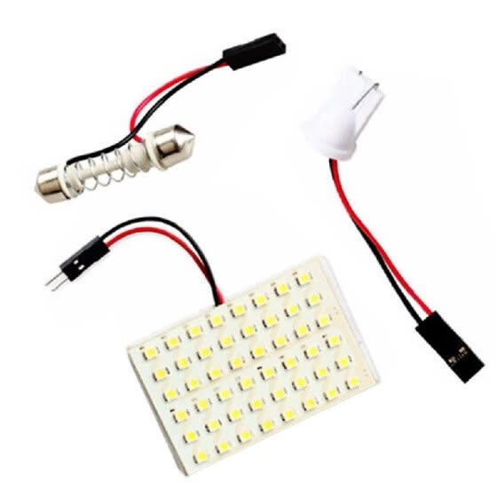 SMD 3528 LED Panel White Car Reading Map Lamp  Auto Dome Interior Bulb Roof
