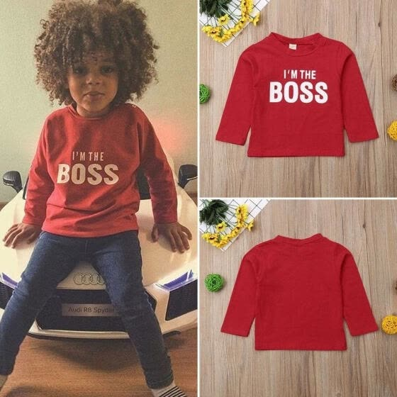 Hot Toddler Kid Baby Girl Boy Long Sleeve Top Sweatshirt Clothes