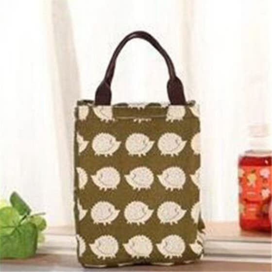 Hot Animal Printed Insulated Cotton Cooler Picnic Lunch Bag Thermal Food Tote P