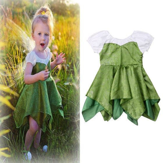 EG/_ Toddler Dress Baby Girl Plaid Ruffled Sleeveless Outfits Princess Clothes Co