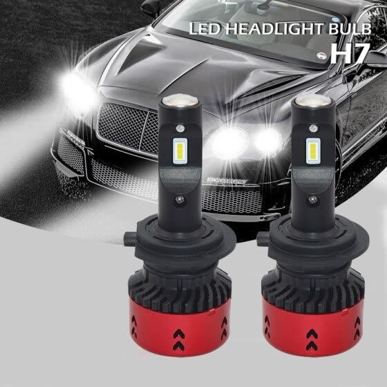 Shop 2pcs 12V 60W Car LED Headlight Bulb 5500K Super Bright Auto Fog