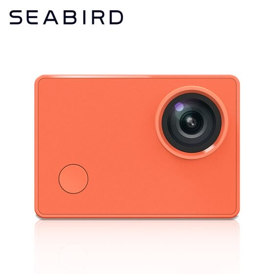 Seabird motion camera camera vlog 4k small camera diving outdoor underwater video anti-shake camera motorcycle helmet head driving cycling recorder orange