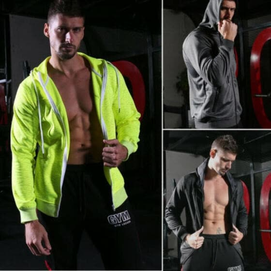 Fashion Men Windbreaker Zipper Jacket hoodie Light Sport Outwear Coat FallWinter