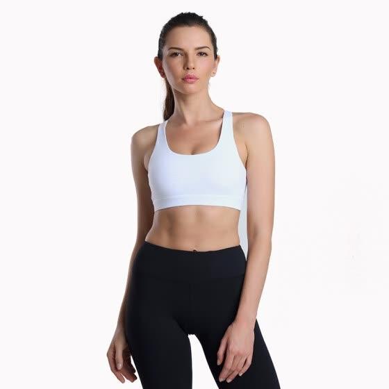 5e00ccb132436 High Impact Yoga Bras Women Quick Dry Padded Running Bra Triangle Mesh Sports  Bra Push Up