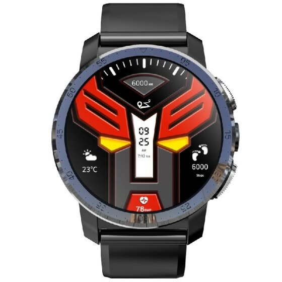 "KOSPET OPTIMUS 4G LTE Smart Watch Android 7.1.1 2GB+16GB 1.39"" AMOLED Screen 8.0MP Camera Dual Systems Smart Wristwatch GPS Nano S"