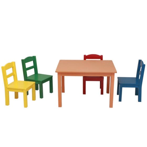 Surprising Shop Kids Table And Chairs Set 4 Chairs And 1 Activity Dailytribune Chair Design For Home Dailytribuneorg