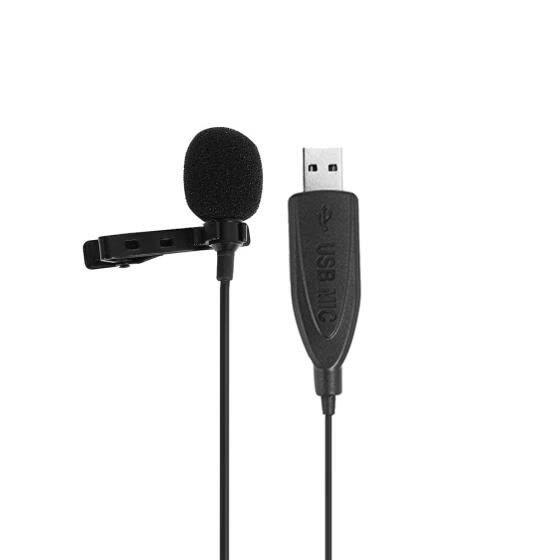 USB Lavalier Микрофонный зажим на воротнике Конденсаторный отворот Микрофон для ПК для встреч