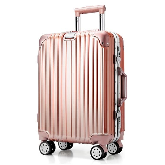 Swiss Royal Sabre Trolley Case Boarding Case Aluminum Frame 20 Inch Universal Aircraft Wheel TSA Code Lock Business Travel Travel Bag Student Luggage SA-7120 Rose Gold