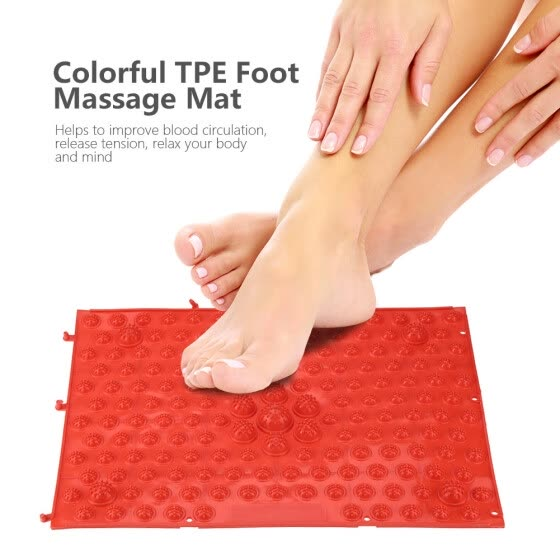 Greensen Colorful TPE Foot Massage Mat Blood Circulation Tension Release Pad for Home Party Game,Foot Massage Mat