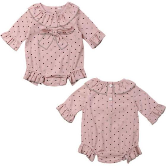 UK Newborn Baby Girls Floral Bow Romper Bodysuit Jumpsuit Sunsuit Outfit Clothes
