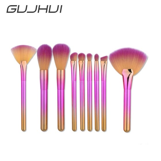 Nomeni 9Pcs Blending Pencil Foundation Eye shadow Makeup Brushes Eyeliner Brush