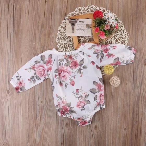 Floral Newborn Baby Girl Bodysuit Romper Jumpsuit Outfits Sunsuit Clothes g
