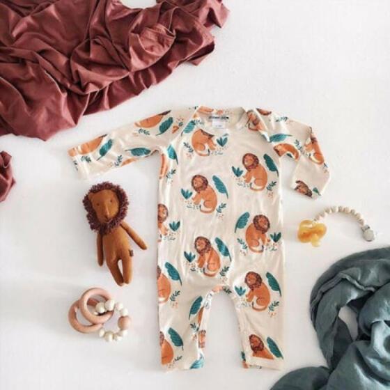US Newborn Kids Baby Boy Girl Romper Jumpsuit Bodysuit Elephant Outfits Set New