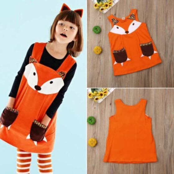 UK Princess Kids Baby Girls Dress Animal Summer Party Dresses Outfits Clothes