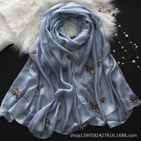 Shop New Dutch linen long sunscreen beach towel shawl cotton