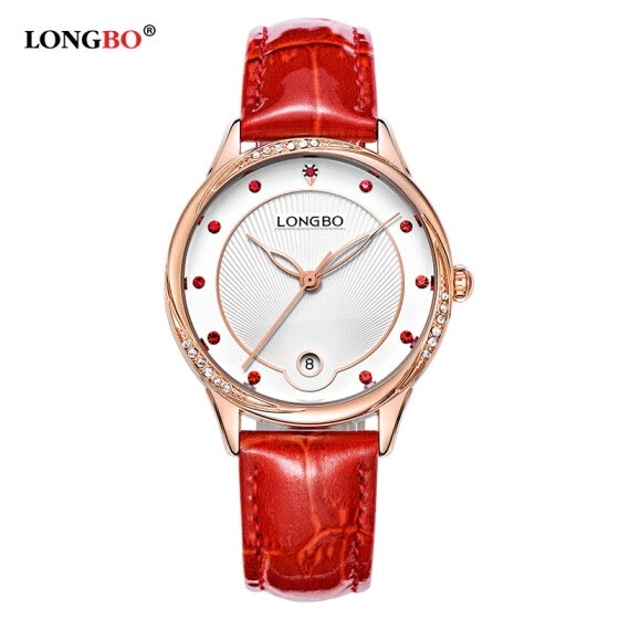 New fashion trend leather belt ladies watch diamond large dial waterproof watch female models 5043