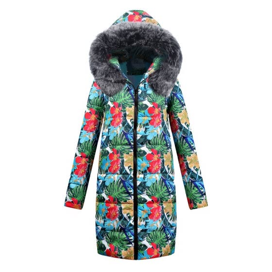 (Toponeto) Womens Winter Long Down Cotton Ladies Parka Hooded Coat Quilted Jacket Outwear