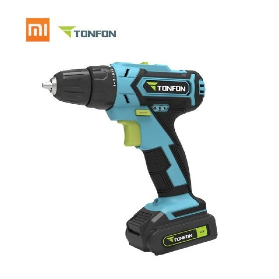 Xiaomi Mijia Tonfon Wireless Electric Cordless Drill 12V Rechargeable Impact Gill Power Screwdriver With Bits 1500mAh Battery