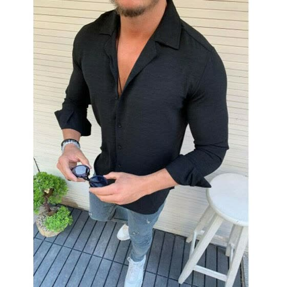Men Summer Long Sleeve Linen Cotton T Shirt Casual Soft Tops Henley Shirt Blouse