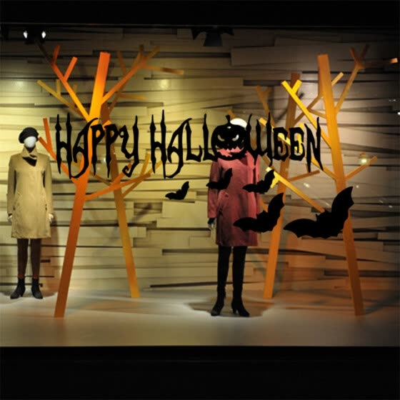 〖Follure〗Happy Halloween Background Wall Sticker Window Home Decoration Decal Decor