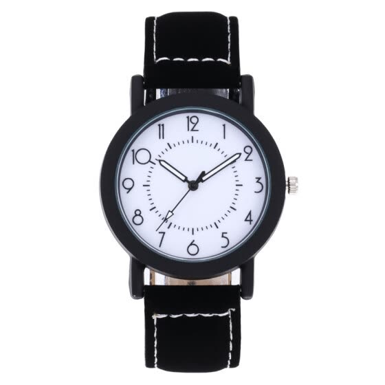 2018 Unique Dial Design Watch Leather Wristwatches Fashion Creative Watch Women Men Quartz Watch Relogio Feminino Hot Sale &Ff