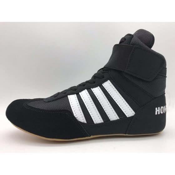 mejor elección el mejor comprar bien 2019 zapatos de lucha de cuatro barras negras, zapatos de ...