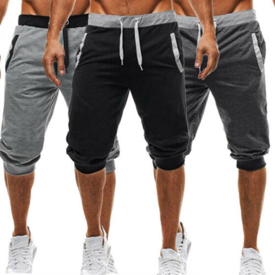 Men/'s Summer Sport Shorts Joggers Training Casual Fitness Gym Workout Sweatpants