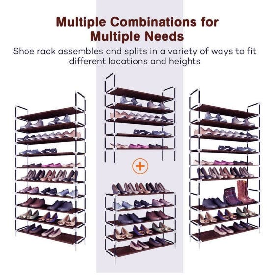 Large Shoe Storage 10 Layer Cabinet Shoes Racks Home Furniture Organizer