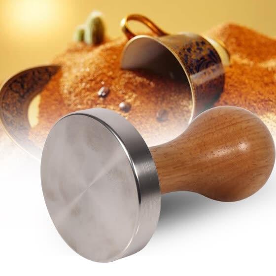 58mm Coffee Espresso Tamper Stamper Flat Base Press Tool Stainless Steel /& Wood