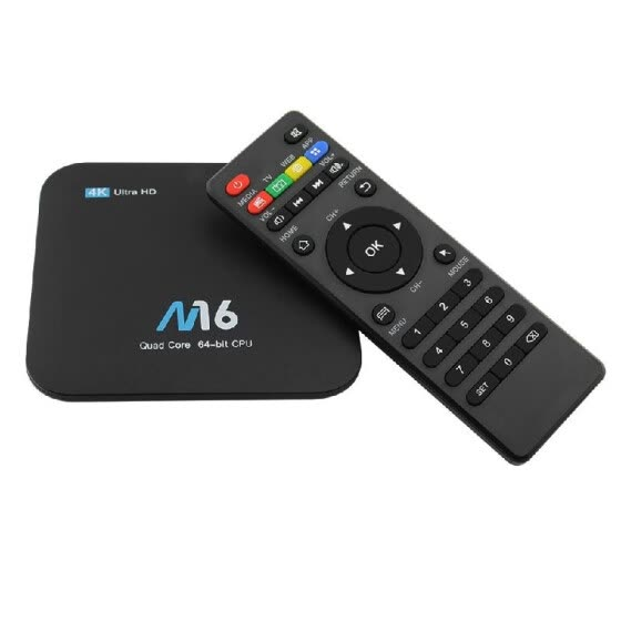 M16 Smart Android 7.1 TV Box Amlogic S905X Quad-core UHD 4K 1GB / 8GB H.265 VP9 HDR10 LAN & WiFi HD Media Player EU Plug