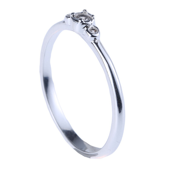 Elegant Ladies Zircon Ring Jewelry Silver Color Engagement Wedding Ring Size6-10