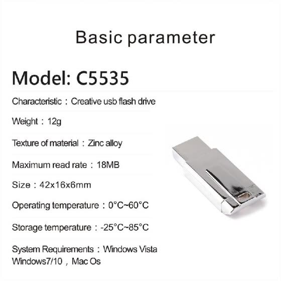 USB Flash Drive 32G USB 2.0 Memory Storage U Disk for Computer