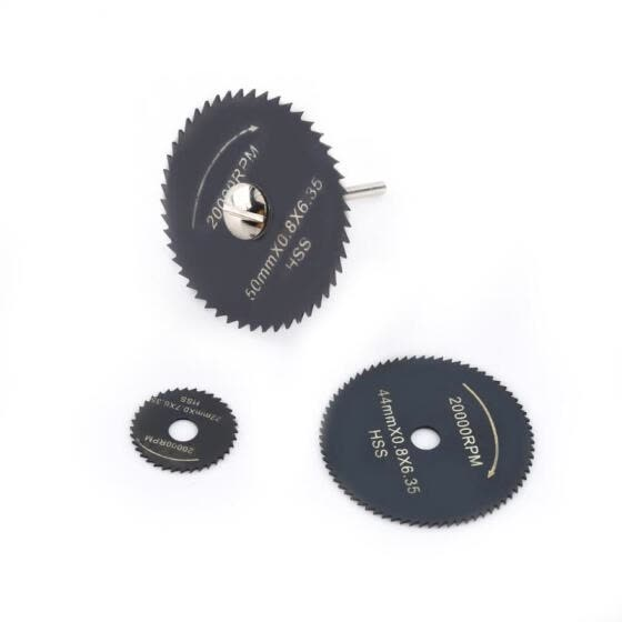 Greensen 1 Set HSS Mini Circular Saw Blades Cutting Disc Power Tools for Wood Plastic Aluminum