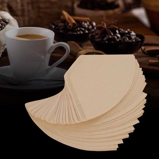 Greensen 40Pcs/Bag Unbleached Natural Cone-Shape Hand Drip Coffee Cup Filter Papers      , Coffee Filter Papers,Filter Papers