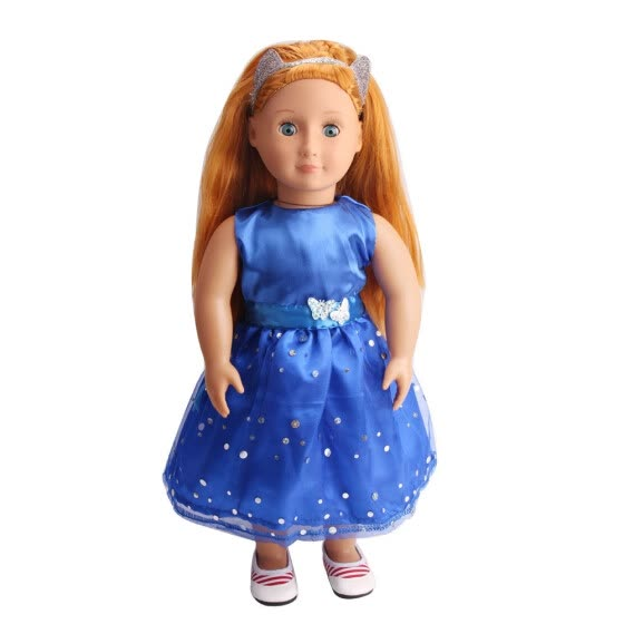 Tailored DIY Doll Clothes Dress for 18 inch Doll Baby Kids Gifts Dress Party Clothes New