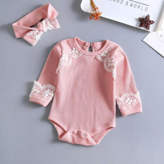 Baby Newborn Girls Floral Strap Jumpsuit Sleeveless Romper Bodysuit Outfits US