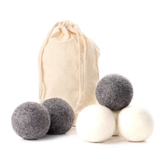 6PCS Natural Reusable Laundry Clean Ball Practical Home Wool Dryer Balls Hot