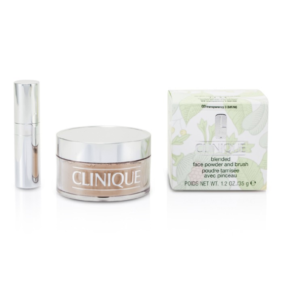 CLINIQUE - Blended Face Powder + Brush - No. 03 Transparency; Premium price due to scarcity  35g/1.2oz