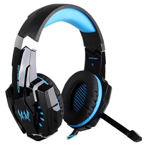 KOTION EACH G9000 7.1 Surround Sound Gaming Headset 3.5mm Computer Game Headphone With Mic LED Light For Tablet PC PS4